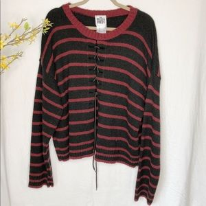 The Ragged Priest Black & Red Sweater Size L